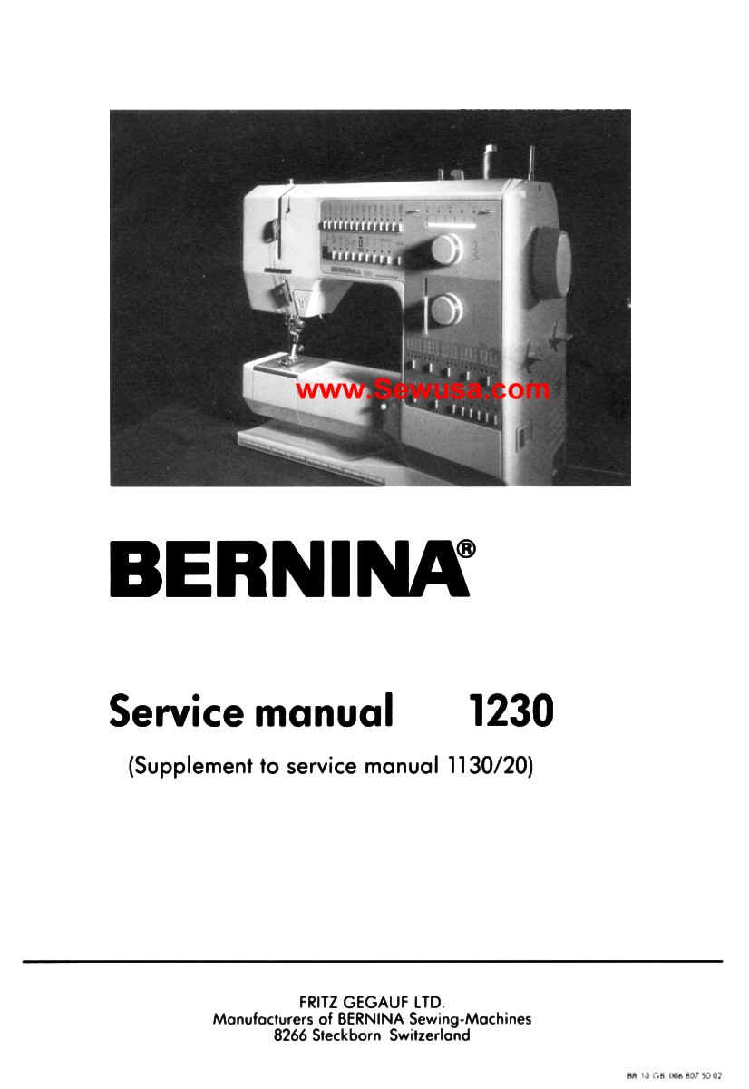 bernina sewing machine service